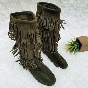 Best Deals for Wide Calf Fringe Boots